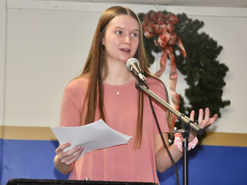 "Fannin County High School 10th grade student Rachel Bruce received first place in the annual Community Services Conference essay contest for her essay titled, ""How My Social Media Presence Improves the Lives of Those Around Me."""