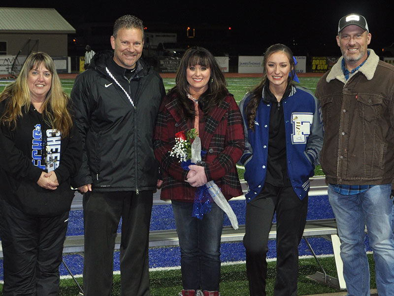 Baylee Sue Williams was recognized at FCHS senior night Friday, November 8. She is shown with her parents Keri and Mike Williams.