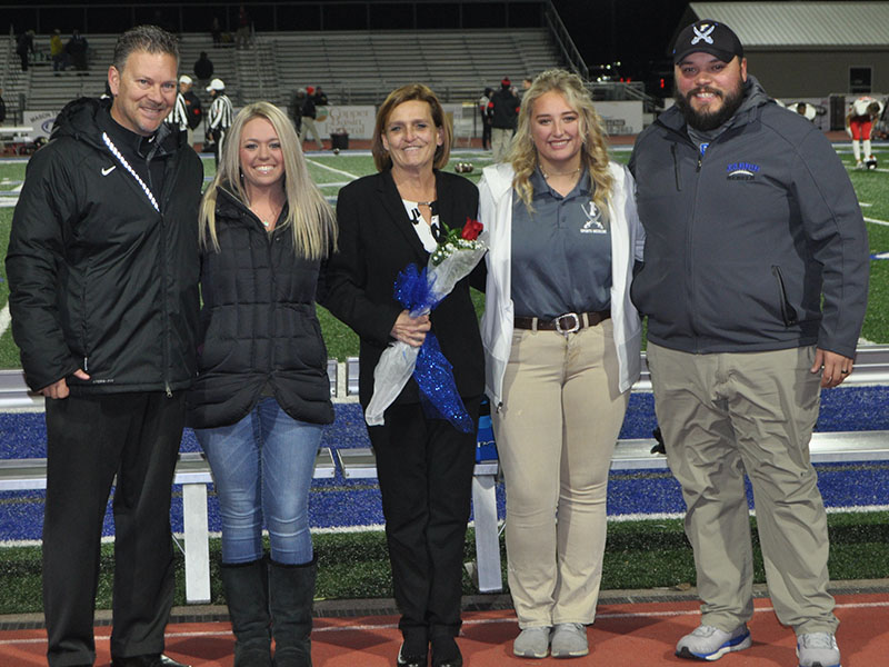 Senior Claire Cobb was on of three student athletic trainers to be honored at senior night Friday, November 8. Shown are, from left, Blythe Griggs, Dorinda Cobb and senior Claire Cobb.
