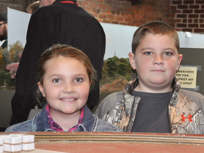People of all ages, including Kyra and Kaden, traveled to Tri-State Model Railroaders Christmas Season Open House Saturday, December 28.