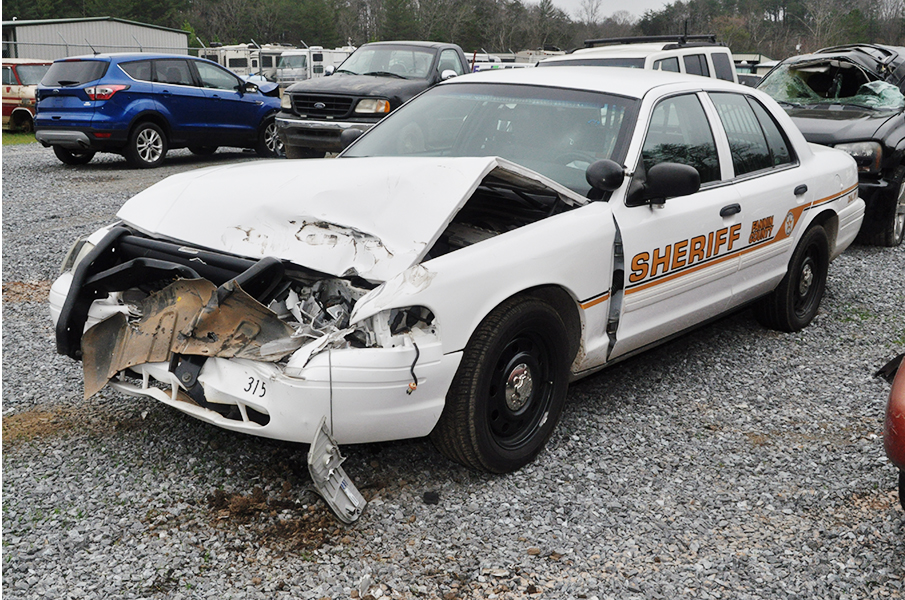 Fannin County Deputy Sheriff Caitlyn Patterson's patrol car is expected to be a total loss after being rammed last week by a fleeing suspect.