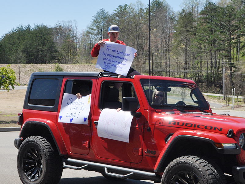Community members participated in a parade at Blue Ridge Assisted Living & Memory Care to show how much the residents mean to them Friday, April 3.