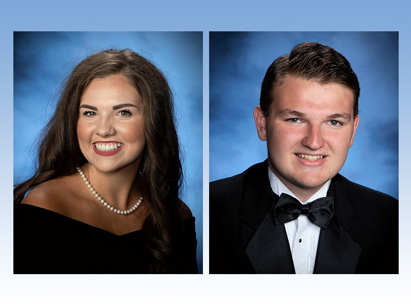 Fannin County High School Class of 2020 graduates Hannah Cruse and Ryan Peterson are two of the many FCHS students honored during the school's virtual Scholarship Awards Ceremony Thursday, May 14.