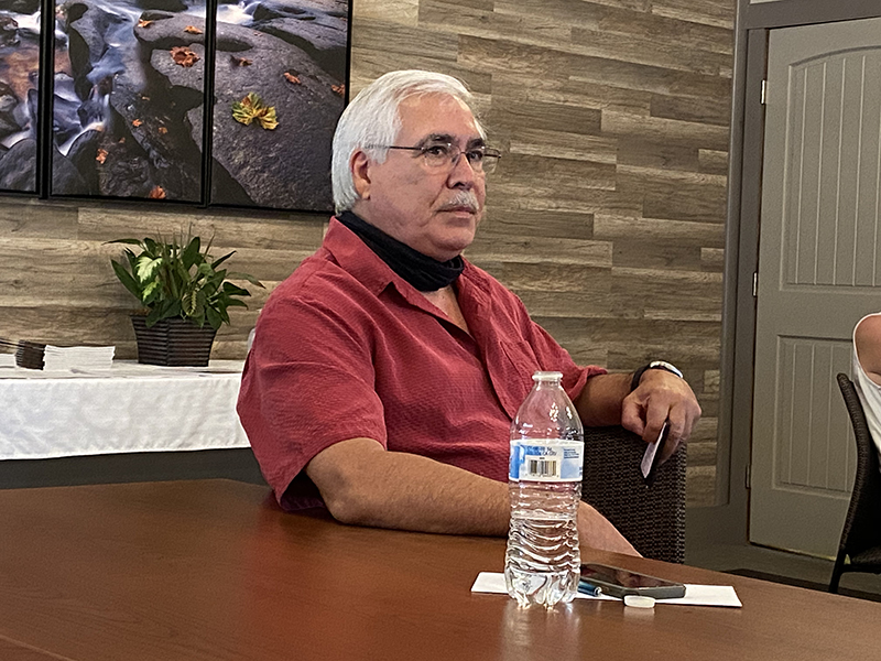 Blue Ridge Business Association President Cesar Martinez updated the Fannin County Chamber of Commerce Board of Directors on downtown Blue Ridge and McCaysville businesses following the COVID-19 pandemic.