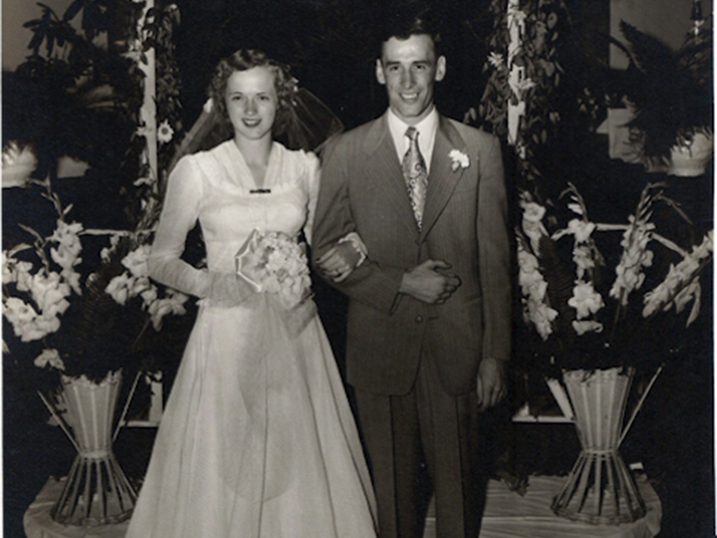 Bob and Lydia Kilpatrick are shown on their wedding day 70 years ago. They were married July 1, 1950, at Mine City Baptist Church in Ducktown.