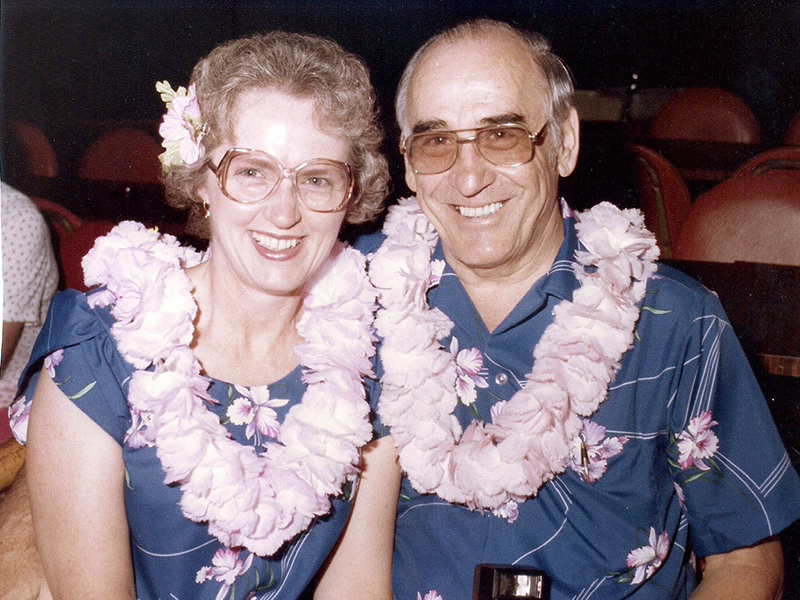 Over the years, Lydia and Bob Kilpatrick have traveled far and wide. In this photo, they are shown during a trip they enjoyed to Hawaii in 1983.