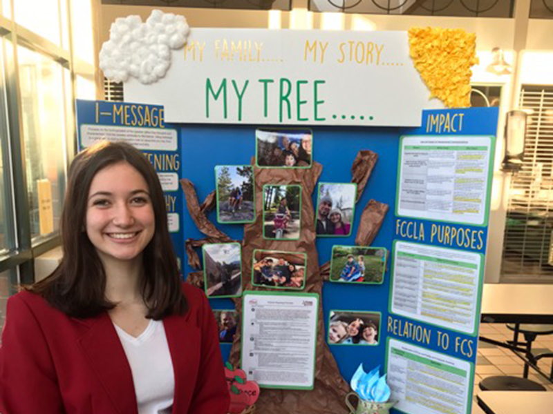 Fannin County High School student Isabella Tocci competed in the Interpersonal Communications portion of this year's national Family Career and Community Leaders of America (FCCLA) competition. Her project was awarded tenth place in the nation.