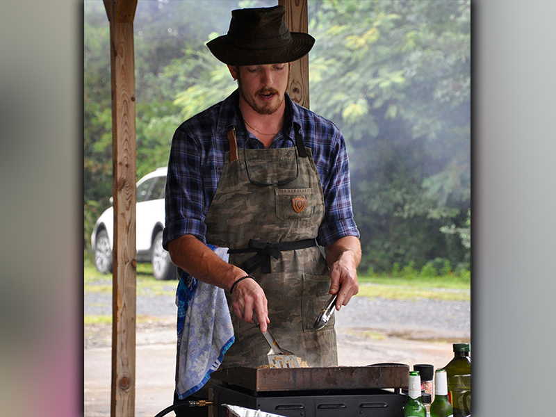 Local celebrity Noah Sims helped cater Fannin County Family Connection's volunteer appreciation lunch Friday, September 25.