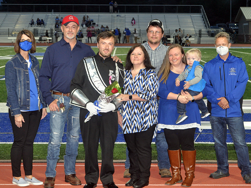 Senior drum major Mathew Johnson was honored during Fannin County's High School's senior night ceremony  Friday, October 9. Shown are, from left, Scott Johnson, Johnson, Kathi Johnson, Justin Young, Brittany Young and Braxton Young.