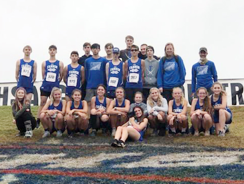 The Fannin Rebel and Lady Rebel cross country teams ran in the state cross country meet in Carrollton, Georgia, Saturday, November 7. Shown following the state meet are, from left, front, Monica Cosentino holding Boone the dog; middle row, Erin Jones, Hannah Sosebee, Taylor Poland, Kristin Cipich, Kinsley Sullivan, Taber Pass, Teagan Cioffi, Carlee Holloway, Olivia Temples and Shaylee Jones; and back row, Jacob Keppal, Jake Jones, Zechariah Prater, Phoenix Leifer, Daniel Espinosa Garcia, James Kyle, Luke Ca