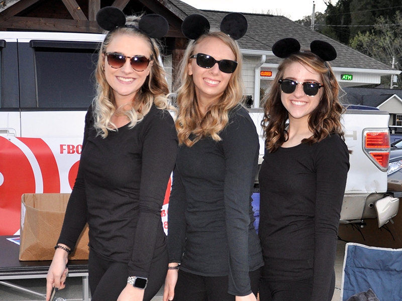 The Three Blind Mice were handing out candy for the First Baptist Church of McCaysville/Copperhill during the annual Halloween Safe Zone. Dressed up are, from left, Victoria Weeks, Journey Dent and Victoria Keaton.