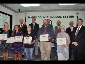 "School Nutrition Teams from all five Fannin County schools received GOLD level recognition through the Georgia Department of Education School Nutrition Team's ""Shake it Up in School Nutrition"" program."