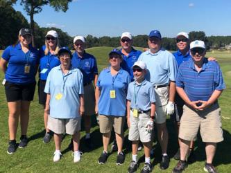 The Fannin County Special Olympics athletes played in a nine hole unified golf tournament in Valdosta, Georgia, Saturday, October 12. Golfers are, from left, front, Debbie Sorrells, Kari Castlen, Alex Hughes and Kevin Turner; back, Ivie Chapman, Carrie Minear, Buford Ramey, Jeff Lake, Rick Kruse and Craig Hartman.