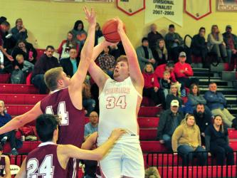 Copper Basin Cougar Logan Tallent shoots a jumper during the Cougars win against Tellico Tuesday, January 7.