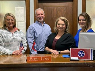 Randy Yates will retire with 24 years of service as Polk County's assessor of property when his current term ends. He is shown with his staff, Carey Russell, Ramona Goforth-Price and Ashley Cain.