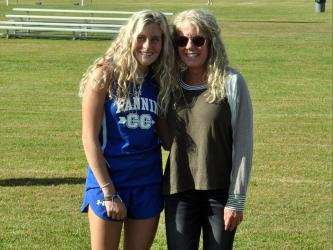 Fannin County High School cross country seniors were honored before thier home meet Wednesday, October 21. Senior Teagan Cioffi is shown with her mother, Shannon Cioffi.
