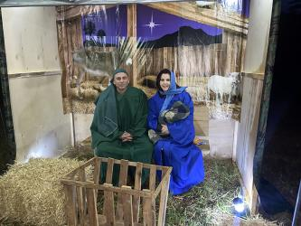 Alan and Kendra Davenport portrayed Joseph and Mary with baby Jesus in The Manger scene of Mt. Moriah Baptist Church's Live Nativity Friday, December 4.