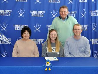Lainey Panter signed a golf scholarship to play at the University of North Georgia, Wednesday, February 10. Shown after the signing ceremony are, from left, front, mother, Lorraine Panter; golfer, Lainey Panter; and brother, Austin Panter; and back, father, Kevin Panter.